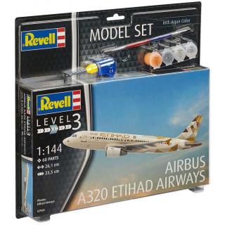 ModelSet letadlo 63968 - Airbus A320 Etihad Airways (1:144)