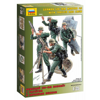 Model Kit figurky 3583 - German Mortar with Crew (1:35)