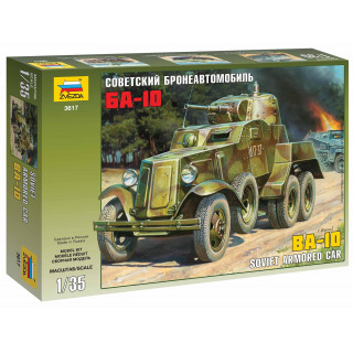 Model Kit military 3617 - Soviet Armored Car BA-10 (1:35)
