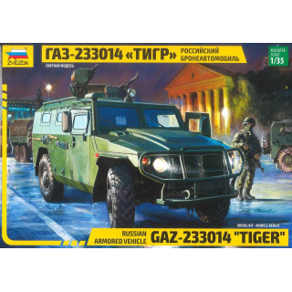 "Model Kit military 3668 - Russian Armored Vehicle GAZ ""Tiger"" (1:35)"