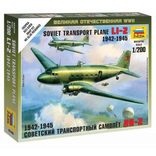 Wargames (WWII) letadlo 6140 - LI-2 Soviet Transport Plane (1:200)