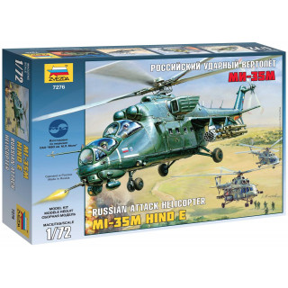 Model Kit vrtulník 7276 - Mil MI-35M HIND E (1:72)