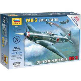 Snap Kit letadlo 7301 - Yak-3 Soviet Fighter (1:72)