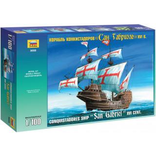 Model Kit loď 9008 - Conquistadores Ship XVI Century (1:100)