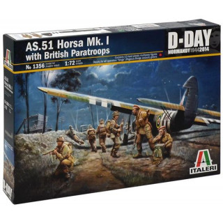 Model Kit letadlo 1356 - AS.51 HORSA Mk.I/II & British Paratr. (1:72)
