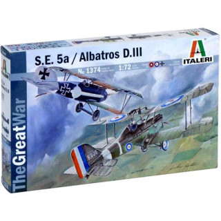 Model Kit letadlo 1374 - S.E.5a and ALBATROS D.III (1:72)