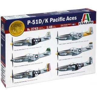Model Kit letadlo 2743 - P51 D/K PACIFIC ACES (1:48)