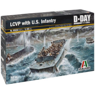 Model Kit loď 6524 - LCVP with US INFANTRY (1:35)