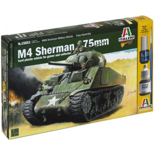 Wargames tank 15751 - M4 SHERMAN 75mm (1:56)