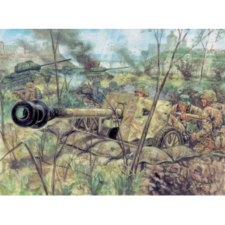 Model Kit figurky 6096 - WWII - GERMAN PAK40 AT GUN & CREW (1:72)