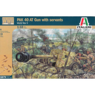 Model Kit figurky 6879 - WWII PAK 40 AT GUN with crew (1:32)