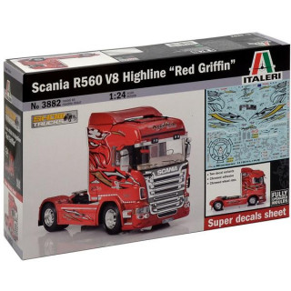 "Model Kit truck 3882 - SCANIA R560 V8 HIGHLINE ""RED GRIFFIN"" (1:24)"