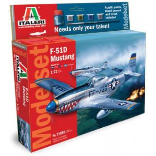 Model Set letadlo 71086 -  F51 D Mustang (1:72)