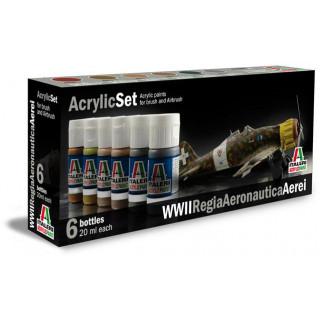 Sada akrylových barev 437AP - WWII AEREI REGIA AERONAUTICA 6 ks
