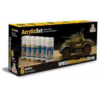 Sada akrylových barev 440AP - WWII MILITARY ALLIED ARMY 6 ks