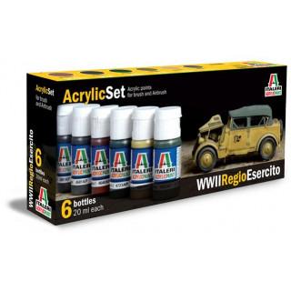 Sada akrylových barev 441AP - WWII REGIO ESERCITO 6 ks