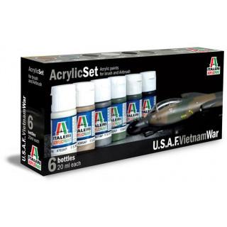 Sada akrylových barev 443AP - U.S.A.F. VIETNAM WAR 6 ks