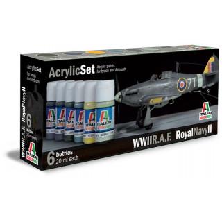 Sada akrylových barev 444AP - R.A.F. / ROYAL NAVY II 6 ks