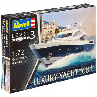 Plastic ModelKit loď 05145 - LUXURY YACHT 108 ft (1:72)