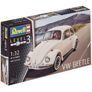 Plastic ModelKit autó 07681 - VW Beetle (1:32)