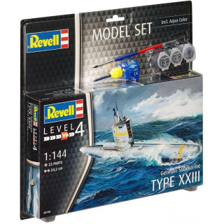 ModelSet ponorka 65140 - German Submarine Type XXIII (1:144)