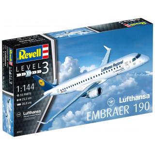"Plastic ModelKit letadlo 03937 - Embraer 190 ""Lufthansa"" (1:144)"