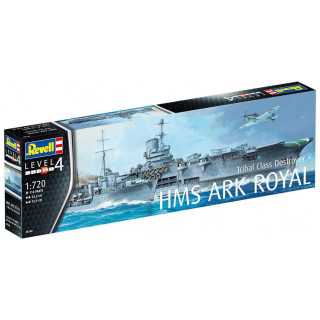 Plastic ModelKit hajó 05149 - HMS Ark Royal & Tribal Class Destroyer (1:720)