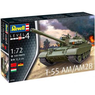 Plastic ModelKit tank 03306 - T-55AM / T-55AM2B (1:72)