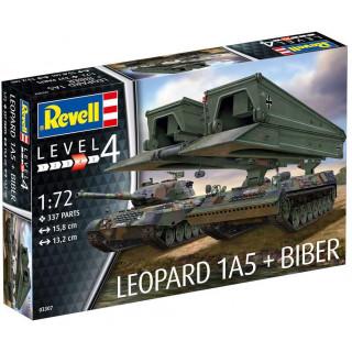 "Plastic ModelKit tanky 03307 - Leopard 1A5 &  Bridgelayer ""Biber"" (1:72)"