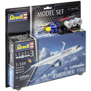 """ModelSet letadlo 63937 -  Embraer 190 """"Lufthansa""""  (1:144)"""