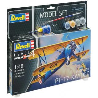 ModelSet letadlo 63957 -  Stearman PT-17 Kaydet (1:48)