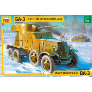 Model Kit military 3546 - BA-3 Armored Car (re-release) (1:35)