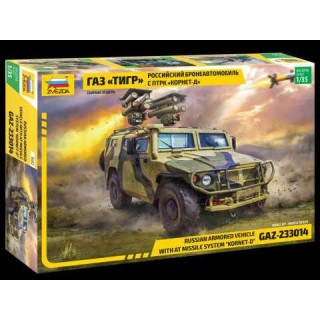"Model Kit military 3682 - GAZ with AT missile system ""Kornet D"" (1:35)"
