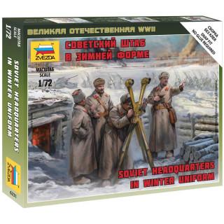 Wargames (WWII) figurky 6231 - Soviet headquarters in winter uniform (1:72)