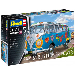 "Plastic ModelKit autó 07050 - VW T1 Samba Bus ""Flower Power"" (1:24)"