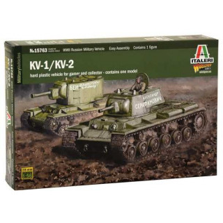 Model Kit tank 15763 - KV1 / KV2 (tank driver INCLUDED) (1:56)