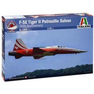 Model Kit letadlo 1395 - F-5E TIGER ll PATROUILLE SUISSE 50th Anniversary (1:72)