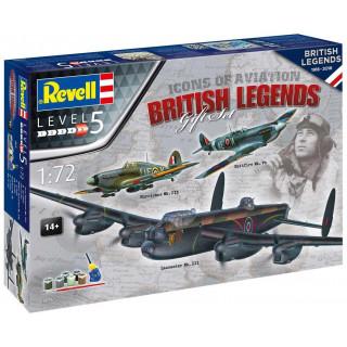 Gift-Set repülőgép 05696 - 100 Years RAF: British Legends (1:72)
