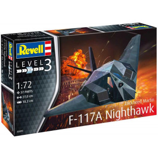Plastic ModelKit letadlo 03899 - Lockheed Martin F-117A Nighthawk Stealth Fighter (1:72)