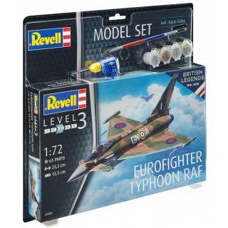 Model Set repülőgép 63900 - 100 Years RAF: Eurofighter Typhoon RAF (1:72)