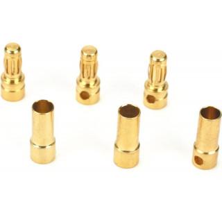 Zlacené konektory 3.5mm (3páry)