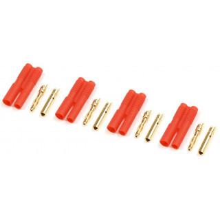 Konektor zlacený 2.0mm plastové pouzdro (4)