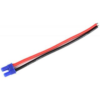 Konektor zlacený EC2 samec s kabelem 14AWG 12cm