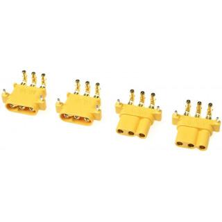 Konektor zlacený MR-30PW s krytem (2 páry)