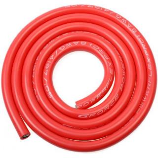 Kabel se silikonovou izolací Powerflex 8AWG červený (1m)