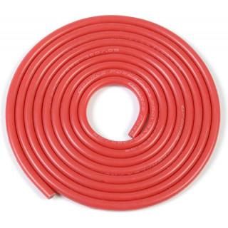 Kábel szilikon izolációval Powerflex 18AWG piros (1m)