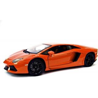 Bburago Plus Lamborghini Aventador LP 700-4 1:18 oranžová metalíza