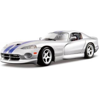 Bburago Dodge Viper GTS Coupe 1:18 stříbrná
