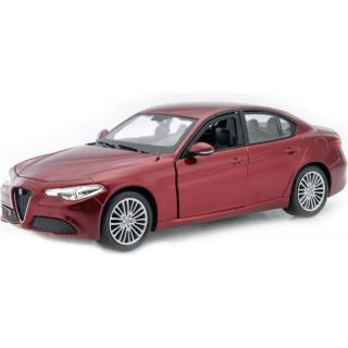 Bburago Alfa Romeo Giulia 2016 1:24 červená metalíza