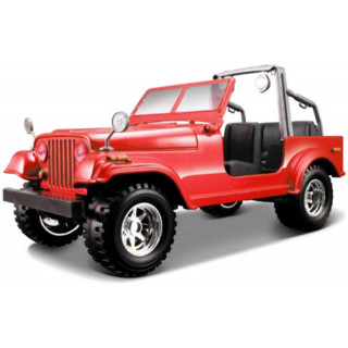 Bburago Jeep Wrangler 1:24 červená